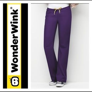 3/$25 Wonder Wink Eggplant Purple Unisex Pants